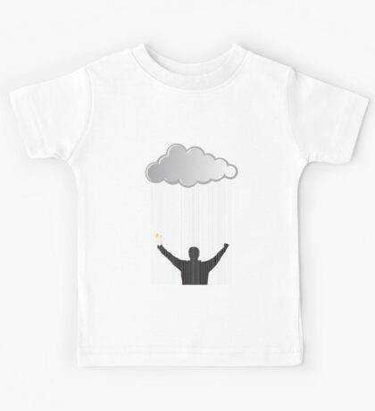 ...and getting caught in the rain... Kids Tee