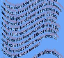 Thomas Jefferson quote from his Washington Memorial by TeaseTees