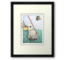 Pooky Swing Framed Print