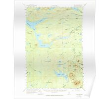 Maine USGS Historical Map Telos Lake 460951 1957 62500 Poster