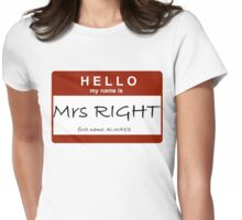 Mrs Right Womens Fitted T-Shirt