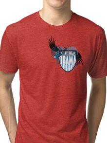 obama : hi-fi crest Tri-blend T-Shirt