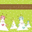 Silly Christmas Trees by fatfatin