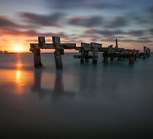 Turquoise Coast Sun Set by Joe Asselin