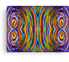 Psychedelic 4 Circle Supreme Canvas Print