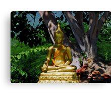 Leafy Buddha Canvas Print