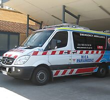 Mica Paramedic Vehicle - Latrobe Valley Hospital by Bev Pascoe