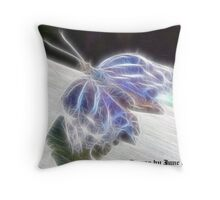 Electrified Butterfly Throw Pillow