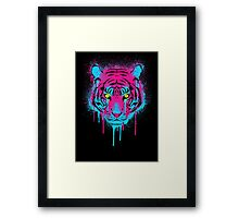 CMYK tiger Framed Print