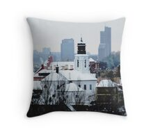 VIlnius in the winter Throw Pillow