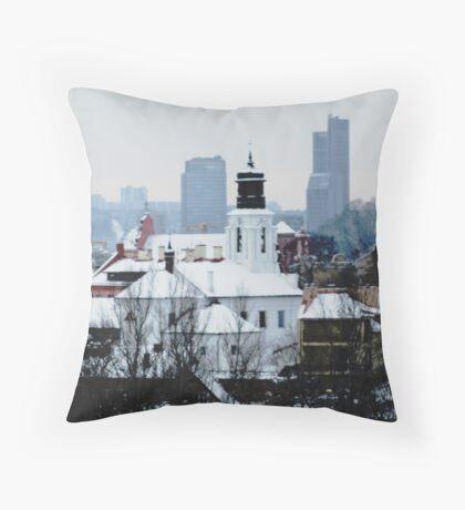 VIlnius in the winter Throw Pillow