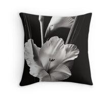 Gladiola V Throw Pillow