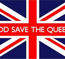 God Save The Queen UK Flag by ukedward