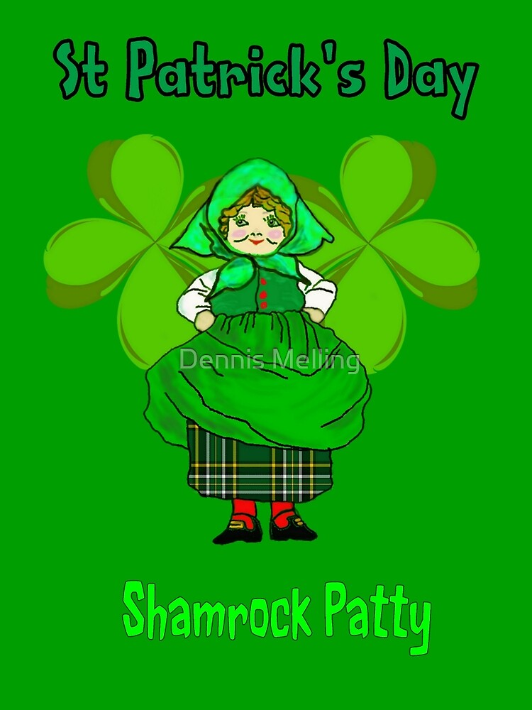 Shamrock Patty ready for St Patrick's Day by Dennis Melling