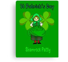 Shamrock Patty ready for St Patrick's Day Canvas Print