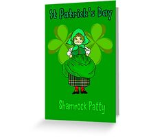 Shamrock Patty ready for St Patrick's Day Greeting Card