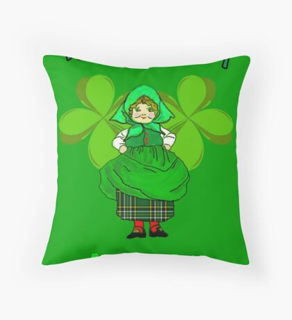 Shamrock Patty ready for St Patrick's Day Throw Pillow