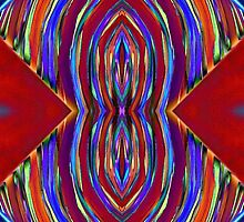 Psychedelic Red Flare Circles by BethofArt