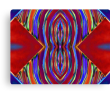 Psychedelic Red Flare Circles Canvas Print