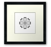 """Spirit of India: Fleur"" in white, grey and black Framed Print"