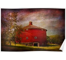 Farm - Barn - Red round barn  Poster