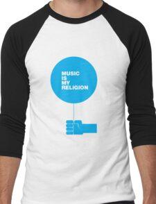 Music is my Religion Men's Baseball ¾ T-Shirt