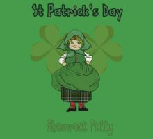 Shamrock Patty ready for St Patrick's Day T-Shirt, leggings, etc by Dennis Melling