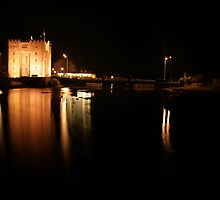 Bunratty Castl;e at night by John Quinn