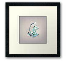 Wave Abstract Framed Print