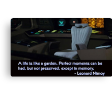 Spock's Empty Chair Canvas Print