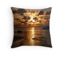 Cable bay Holyhead Island, Anglesey North Wales Throw Pillow