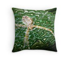 Plastic web Throw Pillow