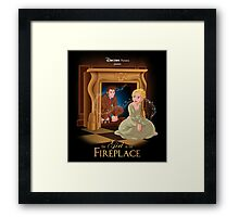 The Girl In The Fireplace Framed Print