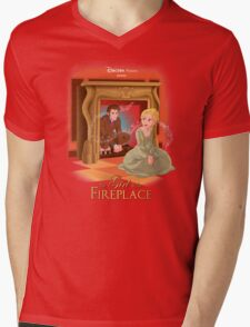 The Girl In The Fireplace Mens V-Neck T-Shirt