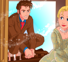 The Girl In The Fireplace Sticker