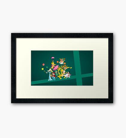 Mushroom Kingdom Smashers! Framed Print