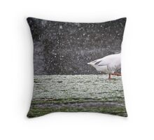 Outside without a string Throw Pillow