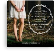 Yoga Psychiatry Canvas Print