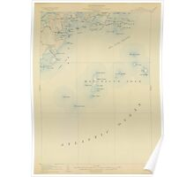 Maine USGS Historical Map Tennant Harbor 306810 1906 62500 Poster