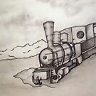 OLD TRAIN ENGINE by Tammera