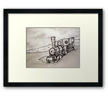 OLD TRAIN ENGINE Framed Print
