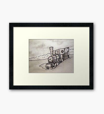OLD TRAIN ENGINE Framed Print