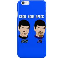 Know Your Spock iPhone Case/Skin