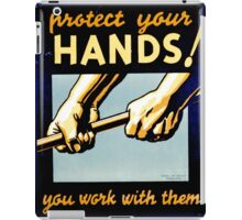 Protect Your Hands iPad Case/Skin