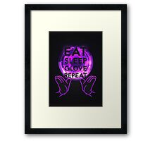 Gloving - Emazing Lights LED (Purple) Framed Print