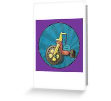 Big Wheel (purple) Greeting Card