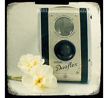 Floral Duaflex, vintage camera Photographic Print