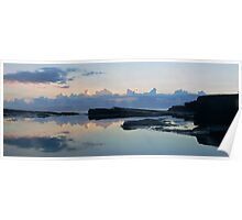 Avoca Rock shelf reflection Poster