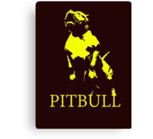 pitbull monster Canvas Print