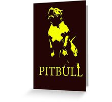 pitbull monster Greeting Card